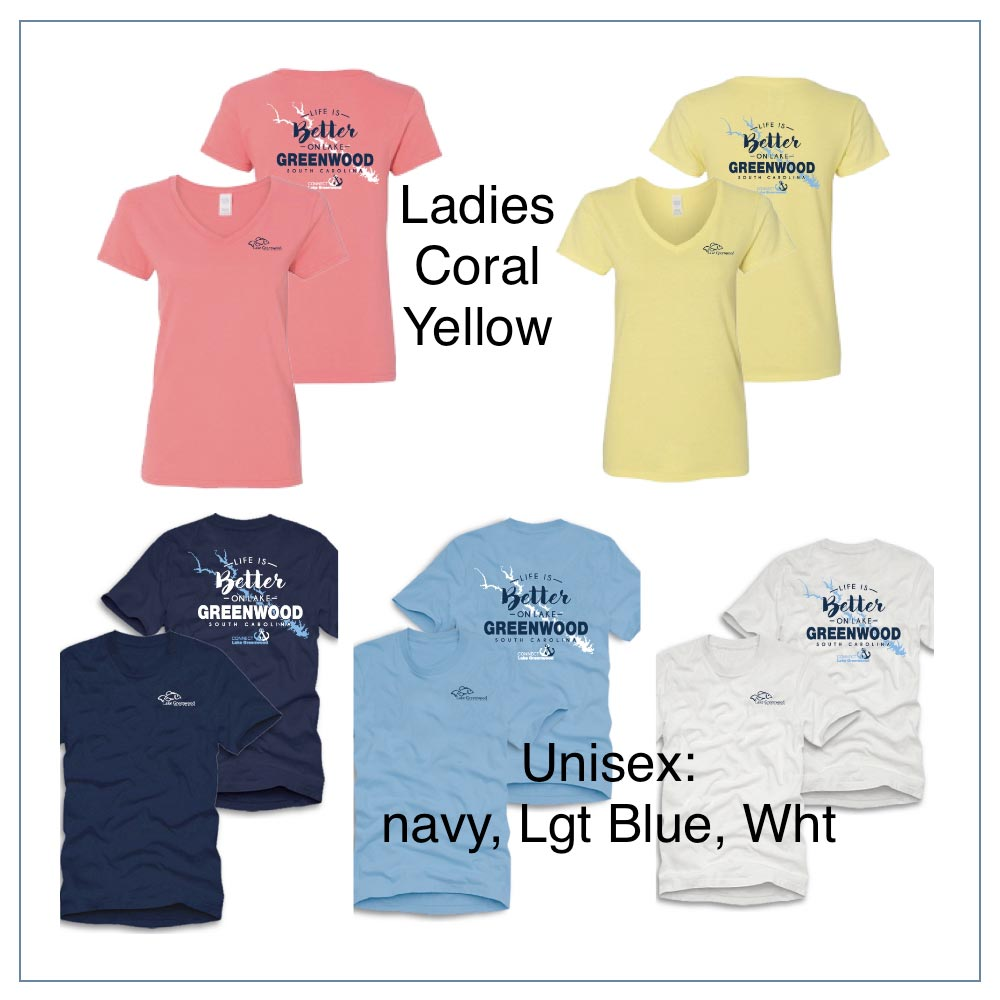 Connect Lake Greenwood Shirts